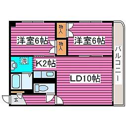 北海道札幌市北区百合が原8の賃貸アパートの間取り