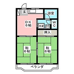 コーポジュネスIII[3階]の間取り