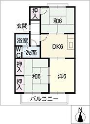 セジュール豊栄[1階]の間取り