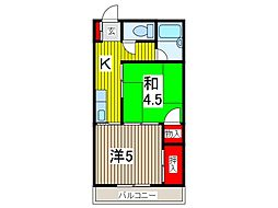 永井マンション[203号室]の間取り