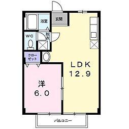グリーンハイツ柴田II[1階]の間取り