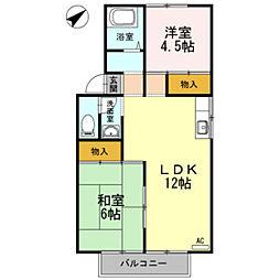 プレジールスミダ A棟[1階]の間取り