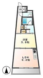 SLANT WALLS(スラントウォールズ)[8階]の間取り