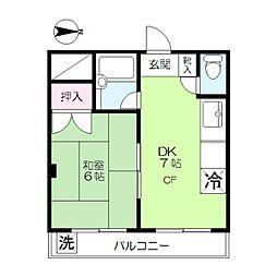 ハイツ志摩[4階]の間取り