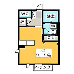 ハイツKANAI 2[1階]の間取り