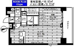 ステージファースト飯田橋アジールコート[1401号室]の間取り