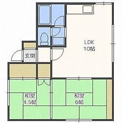マンション楡の家[2階]の間取り