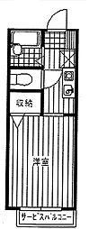 セジュールK[2階]の間取り