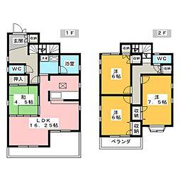 [一戸建] 愛知県岡崎市日名中町 の賃貸【/】の間取り