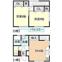 メゾン町田[2号室号室]の間取り