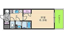 エスリード福島シティグランツ[4階]の間取り