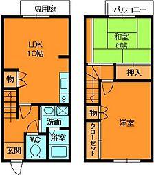 [テラスハウス] 奈良県香芝市旭ケ丘2丁目 の賃貸【/】の間取り