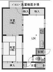 大谷マンション[B-3号室]の間取り