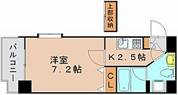 アクタス博多駅東[2階]の間取り