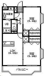 フェニックスマンション A棟[402号室]の間取り