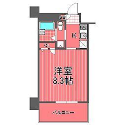 エルミタージュ横濱阪東橋[4階]の間取り