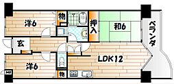 アーティックス小倉金田[8階]の間取り