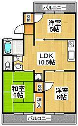 メゾンダジュール1番館[2階]の間取り