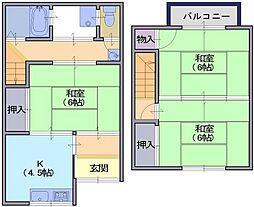 [一戸建] 奈良県天理市前栽町 の賃貸【/】の間取り