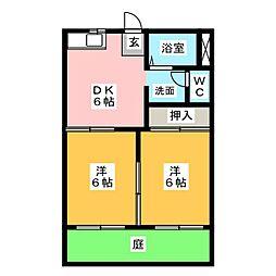 メゾン高坂[1階]の間取り