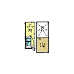 Well−B横濱反町I[0203号室]の間取り