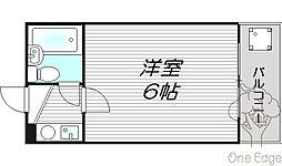 レアレア梅田5番館[4階]の間取り