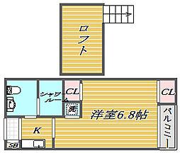 東京都品川区南大井5丁目の賃貸マンションの間取り