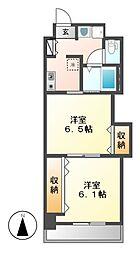 プレステージ名古屋[8階]の間取り