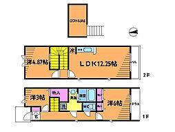 [テラスハウス] 東京都調布市布田6丁目 の賃貸【東京都 / 調布市】の間取り