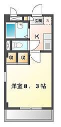 愛知県名古屋市緑区桃山3丁目の賃貸アパートの間取り