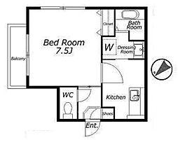 ULT中目黒アパートメント[2階]の間取り