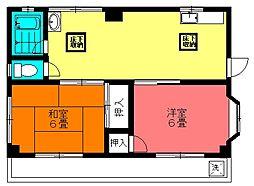 トミタコーポ[1階]の間取り