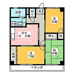 エステート上松[2階]の間取り