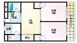 マジェスティック21[4階]の間取り
