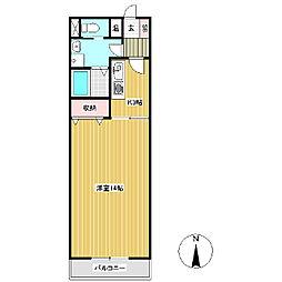 ビーバーズマンション15[2階]の間取り
