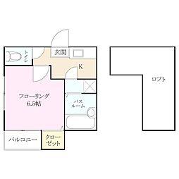 コンフォートベネフィスタウン六本松[2階]の間取り