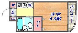兵庫県神戸市東灘区住吉宮町2丁目の賃貸マンションの間取り