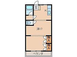 ユニオンハイツ松江[4階]の間取り