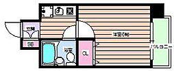 エスリード野田[5階]の間取り