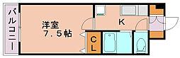 シャンテ吉塚[5階]の間取り