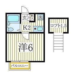 柏ハウス[2階]の間取り