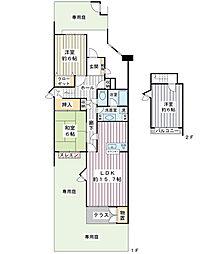 入船北エステート4号棟[2階]の間取り
