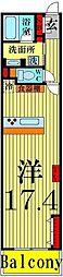 ロイヤルパークス西新井[12階]の間取り