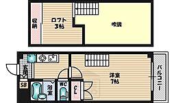 ピア江坂[401号室]の間取り