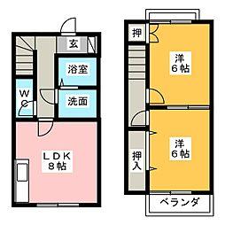 パークサイド高木 A棟[1階]の間取り