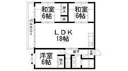 川口第二マンション[0301号室]の間取り