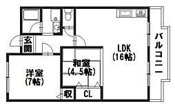 ファームエイト[6階]の間取り