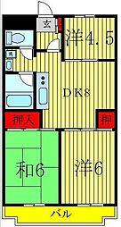 エスポワール紫海[3階]の間取り