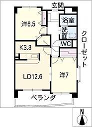 シャロン松本[1階]の間取り
