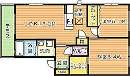三洋タウン上の原 A棟[1階]の間取り